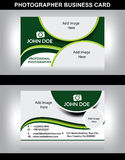 Photographer business card Royalty Free Stock Images