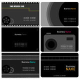 Photographer business cards Royalty Free Stock Photos