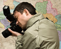 Photographer with a camera Stock Photography