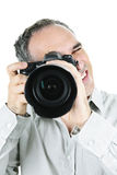 Photographer with camera Royalty Free Stock Photography