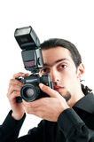 Photographer with the  camera Stock Photo