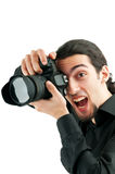 Photographer with the  camera Stock Photography