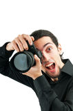 Photographer with the  camera Royalty Free Stock Photo
