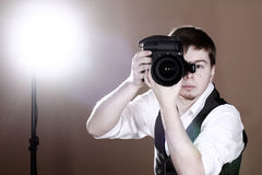 Photographer with camera Royalty Free Stock Image
