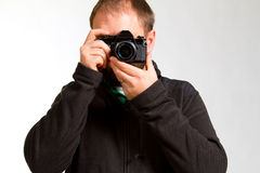 Photographer and Camera Royalty Free Stock Photos