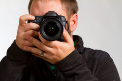 Photographer and Camera Stock Photos