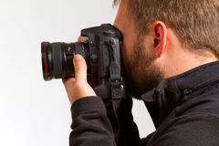 Photographer and Camera Royalty Free Stock Photo
