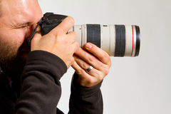 Photographer and Camera Stock Photo