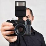 Photographer and camera Stock Photo