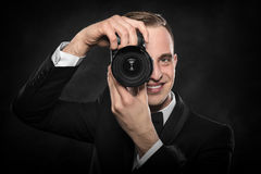 Photographer with camera. Royalty Free Stock Photos