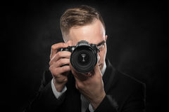 Photographer with camera. Stock Photos