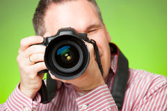 Photographer with camera Stock Photos