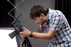 Photographer with camera Royalty Free Stock Photo