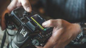 Photographer And Camera Setting Photo stock photos