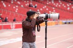 Photographer With Canon Lens Stock Photos