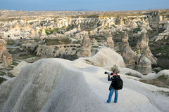 Photographer in Capadocia Stock Image