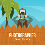 Photographer Cartoon Character Illustration Stock Photos
