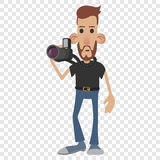 Photographer cartoon icon Stock Photography