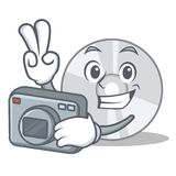 Photographer CD mascot cartoon style. Vector illustration Royalty Free Stock Images