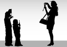 Photographer and children Royalty Free Stock Photo