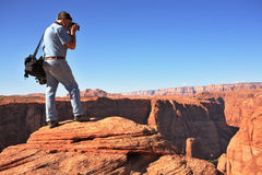 The  photographer on  the Colorado Royalty Free Stock Image