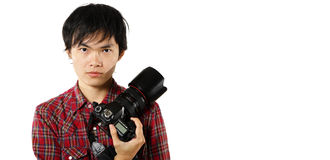 Photographer with copyspace Stock Image