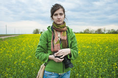 Photographer in countryside Stock Photos