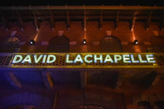 Photographer David LaChapelle sign Royalty Free Stock Photography