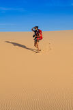 Photographer in desert Royalty Free Stock Images