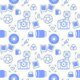 Photographer devices seamless pattern Stock Image