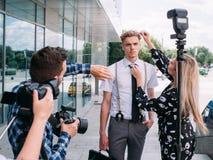 Photographer directions creative ideas photoshoot Royalty Free Stock Photography