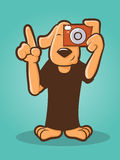 Photographer Dog Royalty Free Stock Image