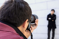 Photographer doing photos Royalty Free Stock Image