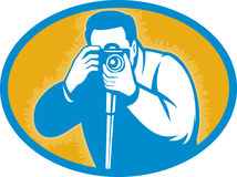 Photographer with dslr camera Royalty Free Stock Photography