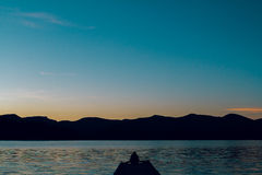 Photographer with DSLR in Oregon at Lake Stock Photos