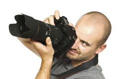 Photographer on duty Stock Images