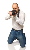 Photographer on duty Royalty Free Stock Photos