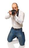 Photographer on duty Royalty Free Stock Photos