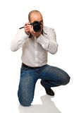 Photographer on duty Royalty Free Stock Photography