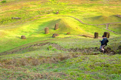 Photographer on Easter Island Royalty Free Stock Images