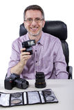 Photographer with Equipment Stock Photography