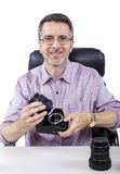 Photographer with Equipment Royalty Free Stock Photos