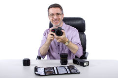Photographer with Equipment Stock Photos