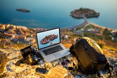 Photographer equipment Stock Images
