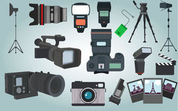 Photographer equipment vector. For your ideas Stock Photo