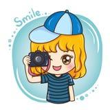 Photographer_female_vector_1 vector illustration