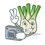 Photographer fennel mascot cartoon style. Vector illustration Royalty Free Stock Images