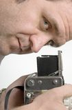 Photographer with film camera Royalty Free Stock Image
