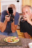 Photographer and Friend Stock Photography