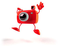 Photographer in a funny pose Stock Images